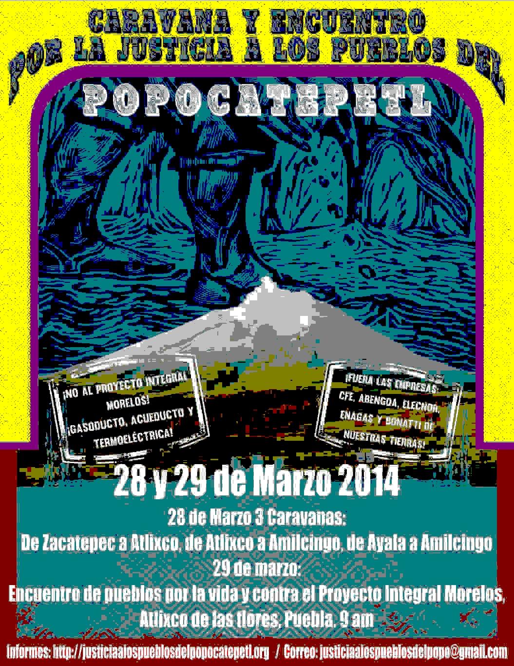 Caravana y Encuentro por la Justicia a los Pueblos del Popocatépetl
