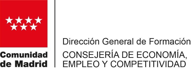 logo CONSEJERÍA EMPLEO COMUNIDAD DE MADRID