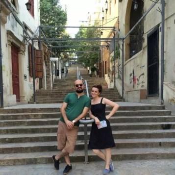 Gemmayze Merdivenleri'nde Biz