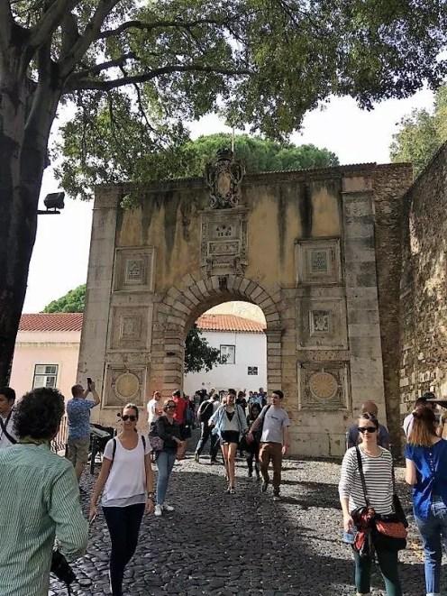 Kale Girişi, Lizbon Kalesi