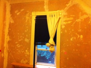 The Nipper's west wall. Two layers of wallpaper removed and cracks/dings sealed