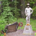 Ukrainian Canadians Veterans' Monument in Banff