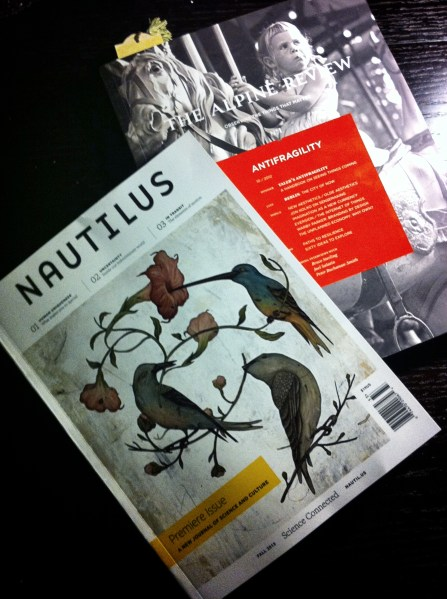 Premiere Issues of Nautilus & The Alpine Review