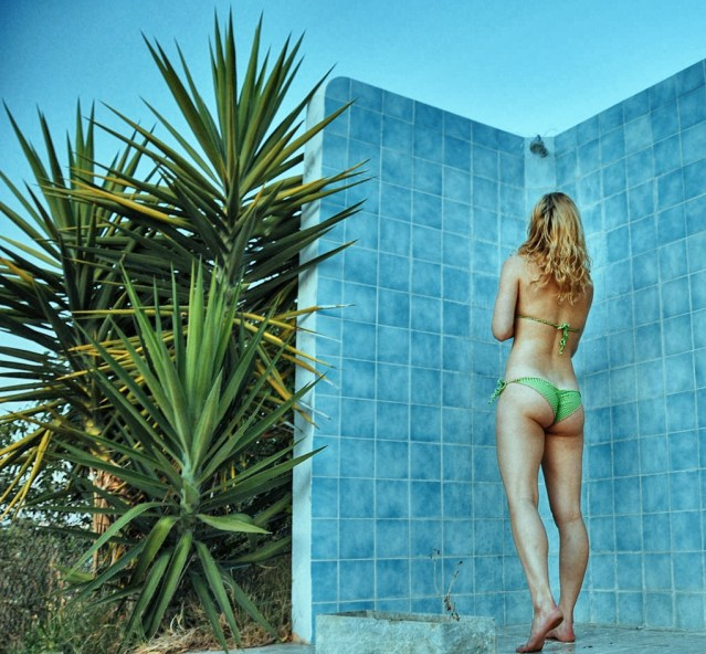 Poolside shower