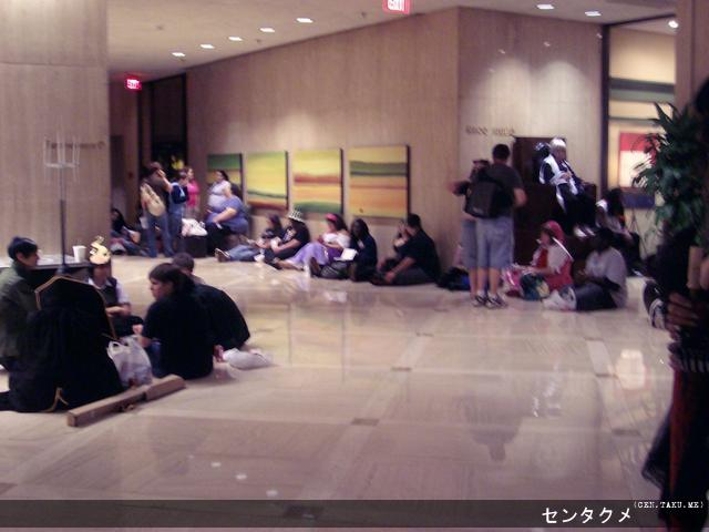 A crowd gathers for a Saturday night event of the second night of AWA