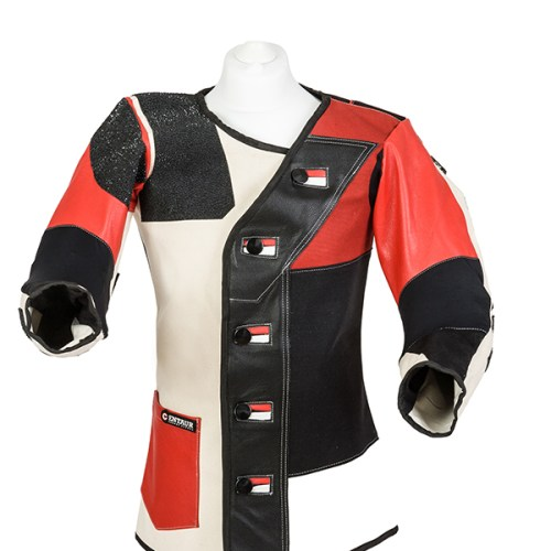 Centaur Match 16 Double Canvas and Leather Target Shooting Jacket - Front view