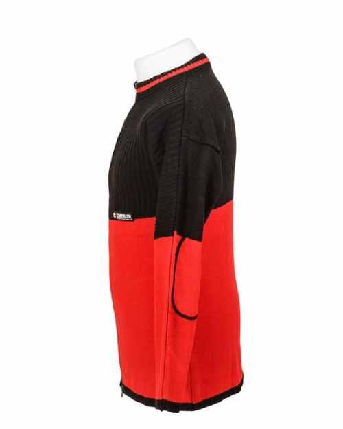 Elastic rib stitch padded target shooting cardigan by Centaur Target Sports - Left side view