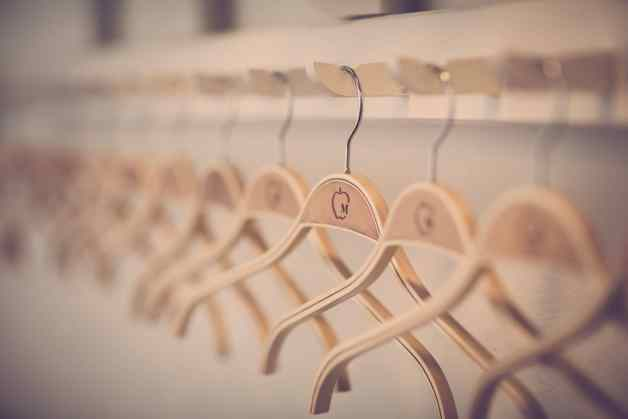 Row of hangers a representation of Financial Goals
