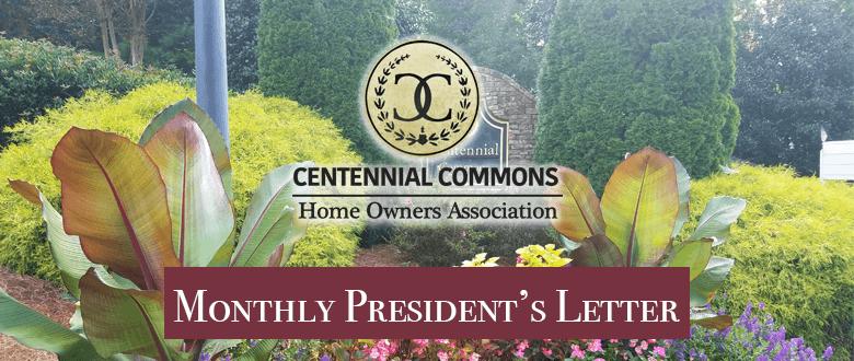 AUGUST 2017 – President's Letter