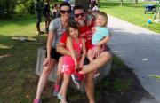 Carlin family at Ward's Island.