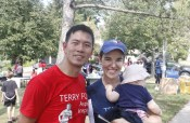 Richard Wu and Marissa Hill enjoy participating in the Terry Fox Run on Sunday.