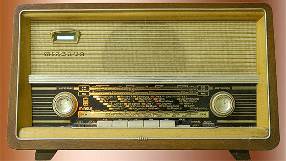 old radio set
