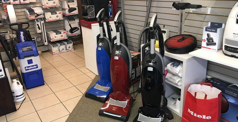 RugDoctor shampooer, Miele uprights, Miele RX2 robot vacuum, Miele vacuum parts