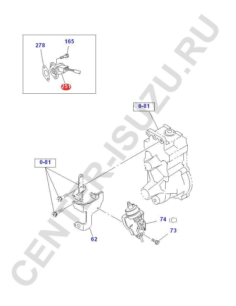 Датчик положения рейки ТНВД nqr71 isuzu