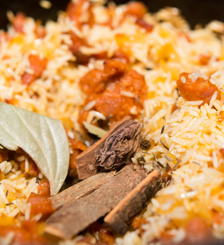 Indian food cooked by Cherie Scott using D'Artagnan food