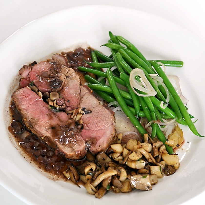 mushroom-stuffed-wild-boar-roast-with-truffle-sauce-recipe