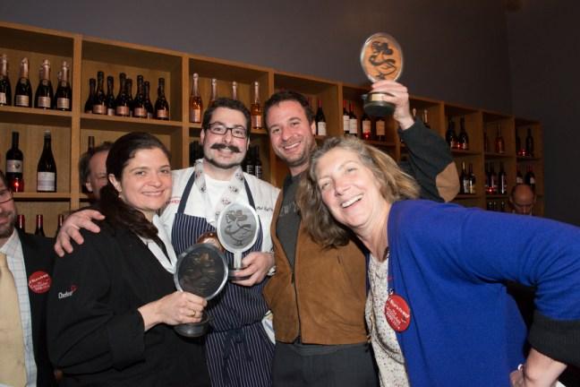 Ariane with Cassoulet War 2014 Winners Alex Guarnaschelli, Phil Deffina, Hugue Dufour