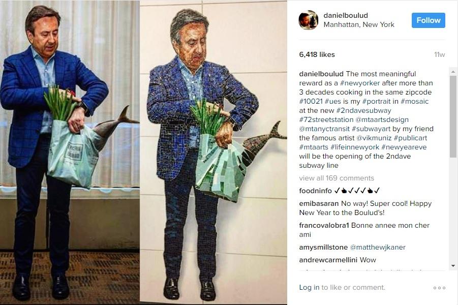 Daniel Boulud Subway Mosaic Instagram