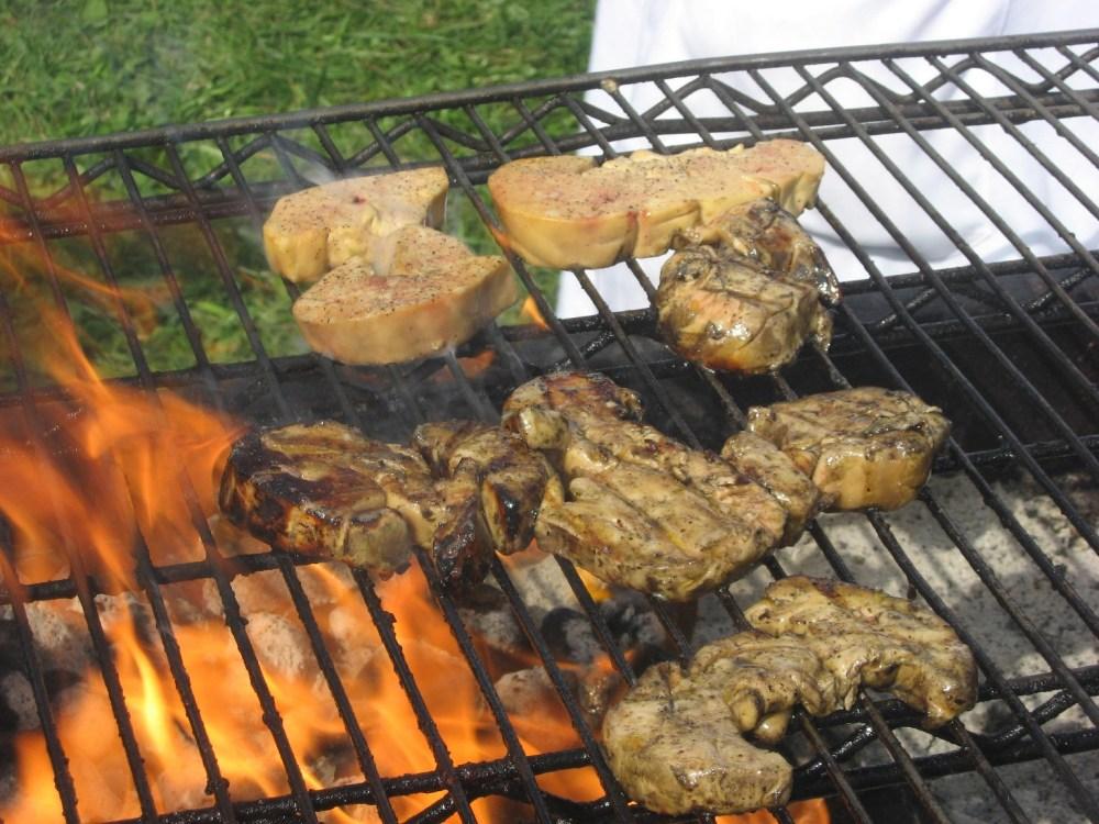 Foie gras slices on grill.jpg