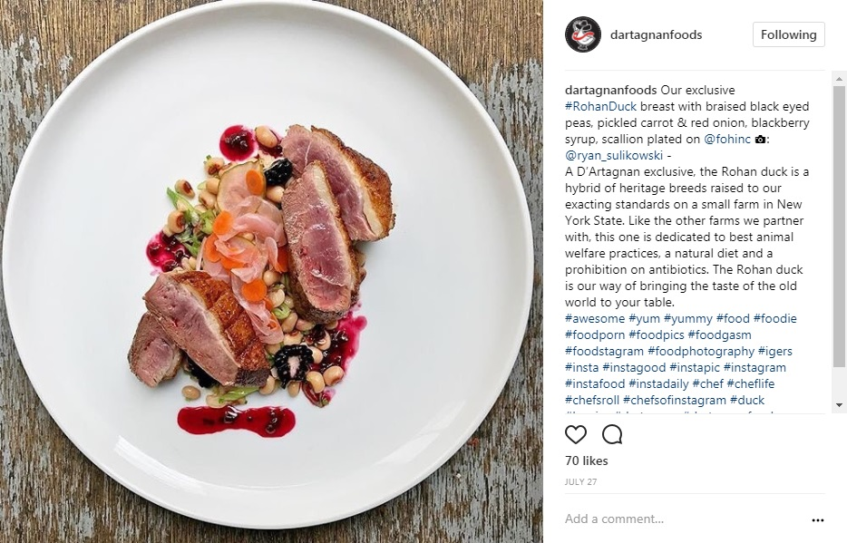 Rohan Duck Breast Front of the House Photos