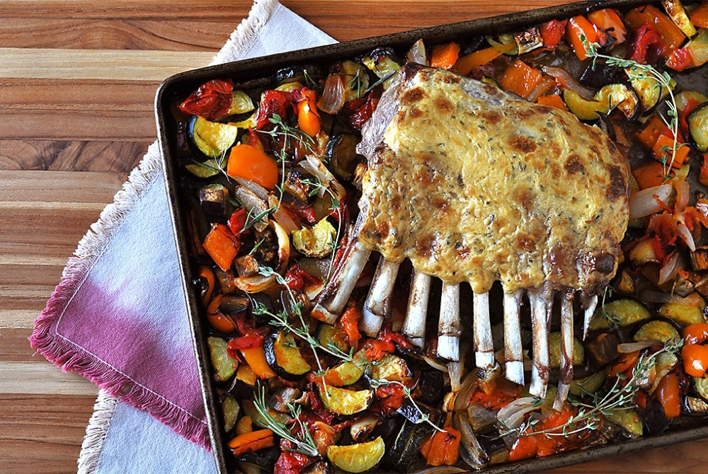sheet-pan-lamb-with-ratatouille-recipe