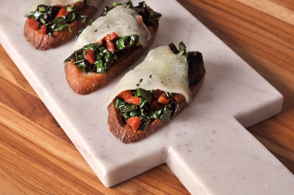 chorizo kale crostini for blog
