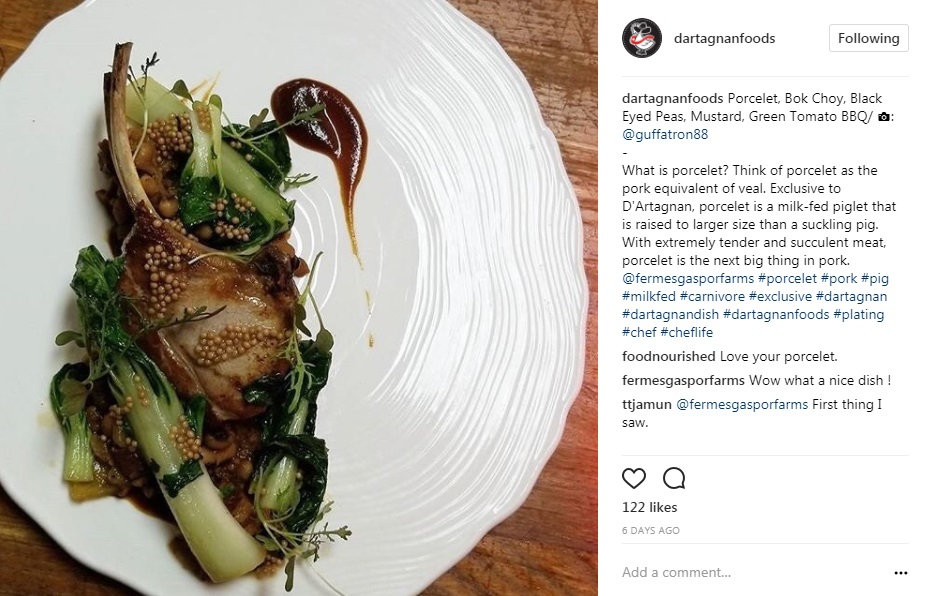 Instagram Porcelet Chef Andrew Guffey