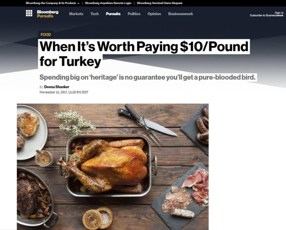 Bloomberg Heritage Turkey Article