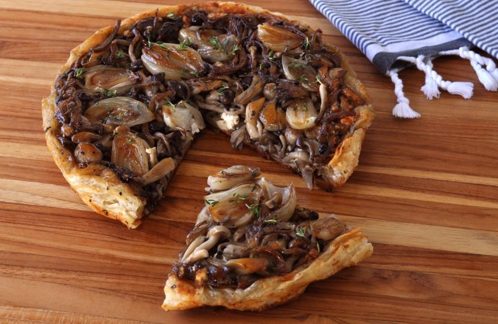 Mushroom Tarte Tatin Cut Open