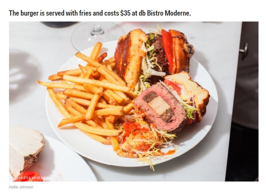 Daniel Boulud Business Insider Foie Gras Burger 2