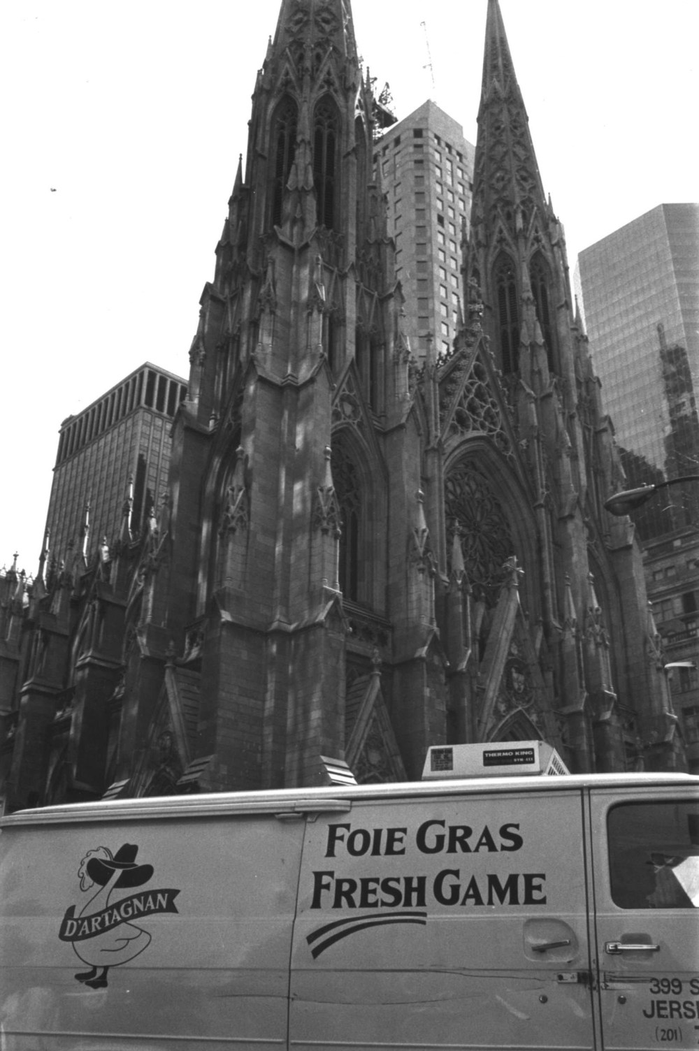D'Artagnan van at St Patrick's Cathedral NYC late 1980s
