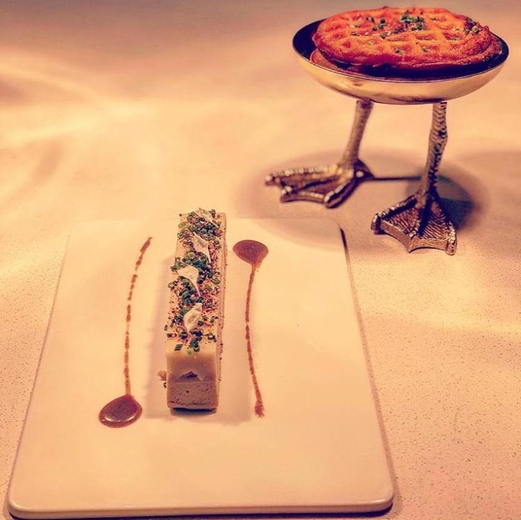 Waffles IG Bresca Foie Gras with Waffles