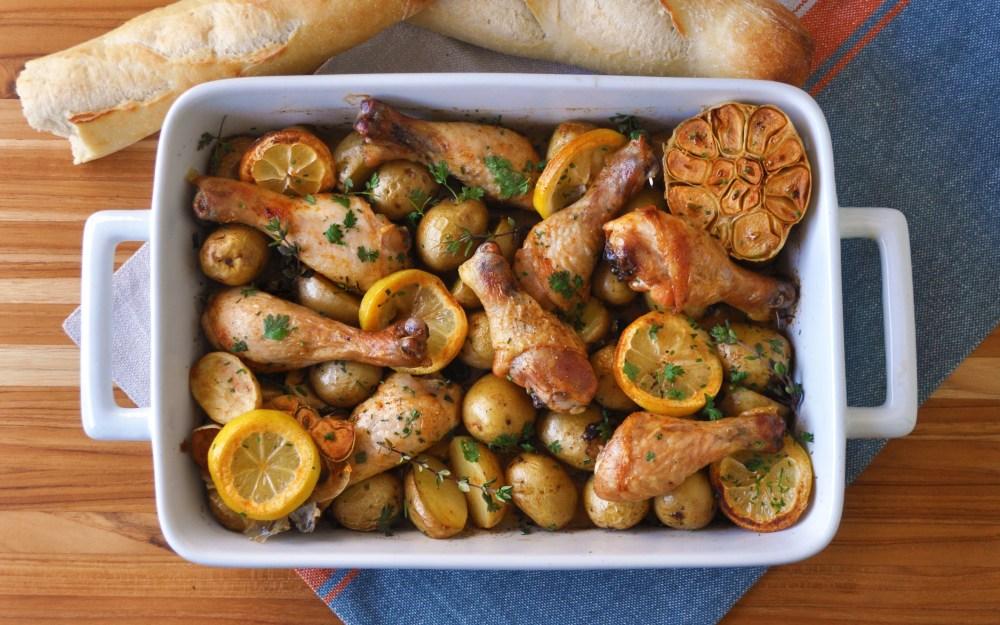 one pan garlic lemon chicken hi res