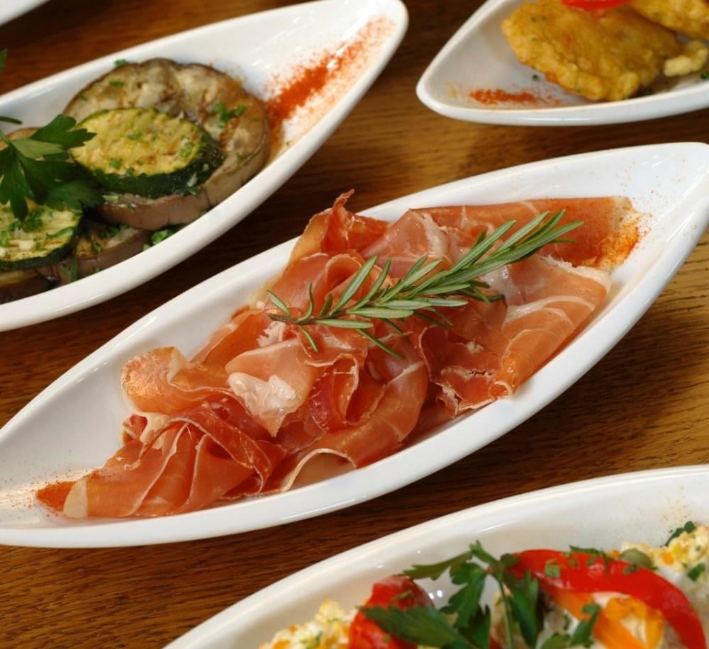 Ham in Tapas Spread