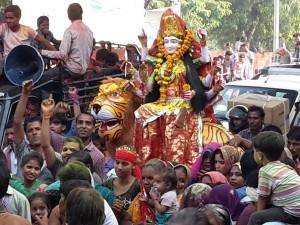 Durga and Tiger