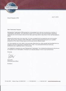 DTM Certificate 2018