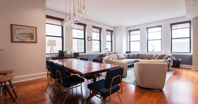 1515 Locust Street Living Room - The Chelsea Condos