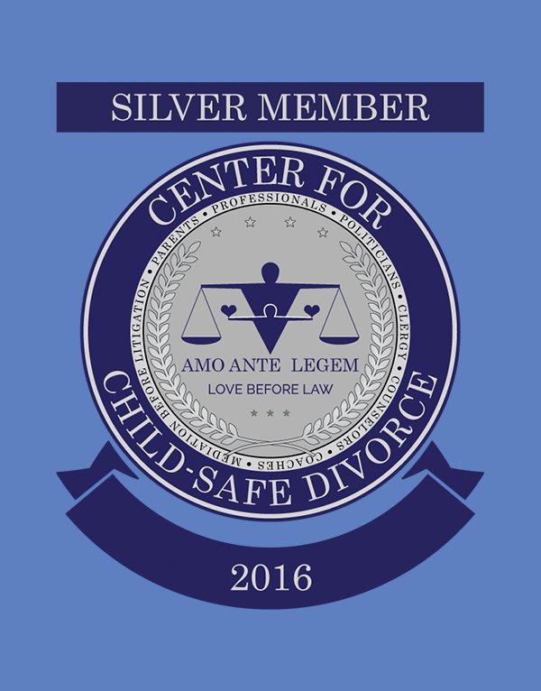 Center for Child-Safe Divorce - Silver Member Cart Crest