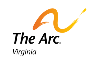The Arc of Virginia image of an orange arch above the wording