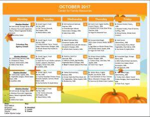 2017 October Menu