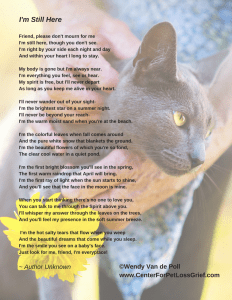 Pet Loss Poem I am Still Here