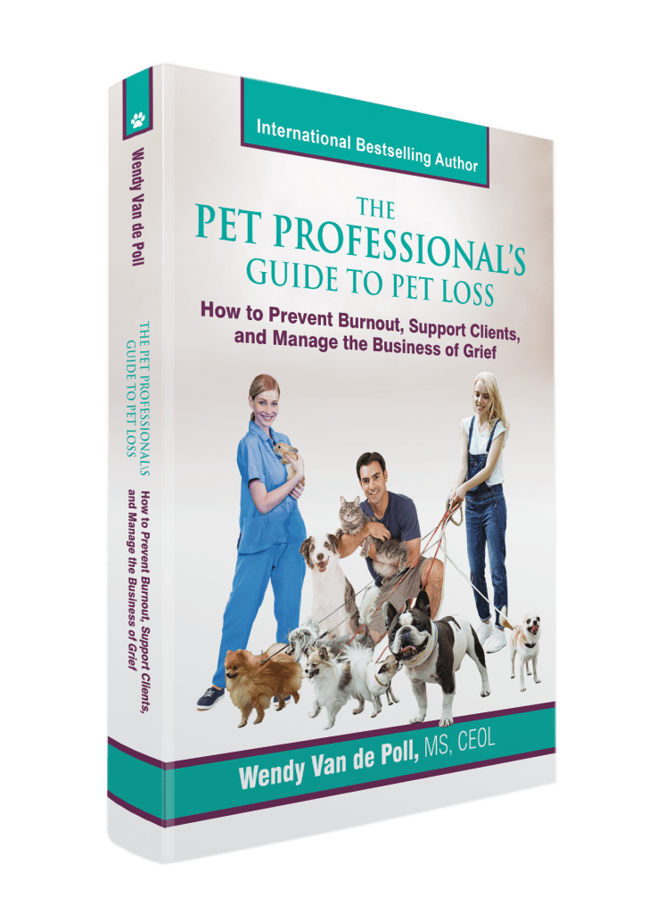 pet professionals guide to pet loss book cover