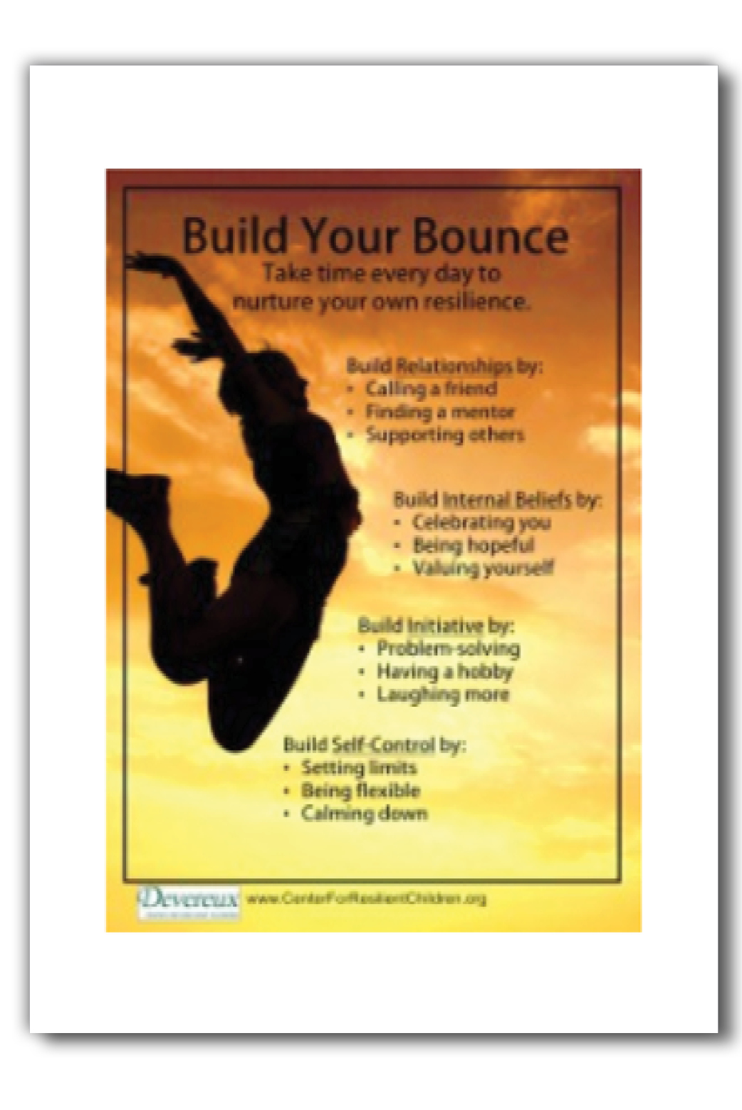 Resilience Building Posters Adults Set Of Four