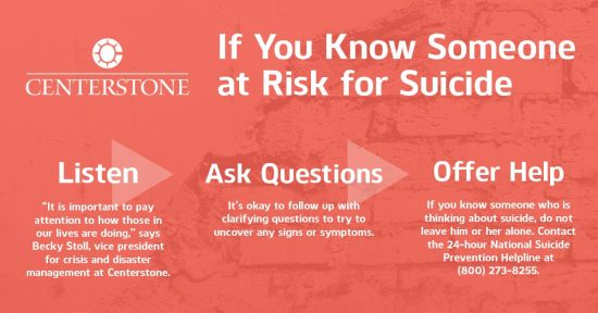 If you Know Someone at Risk for Suicide