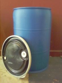 Open_55 Gal Plastic Barrel