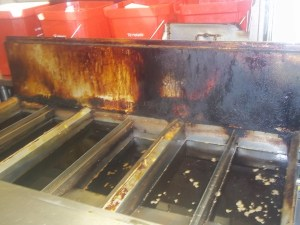 dirty restaurant fryers