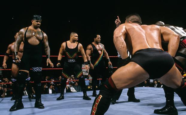 Image result for WWE Survivor Series Nation of Domination vs LOD, Ken Shamrock, Ahmed Johnson wwe.com