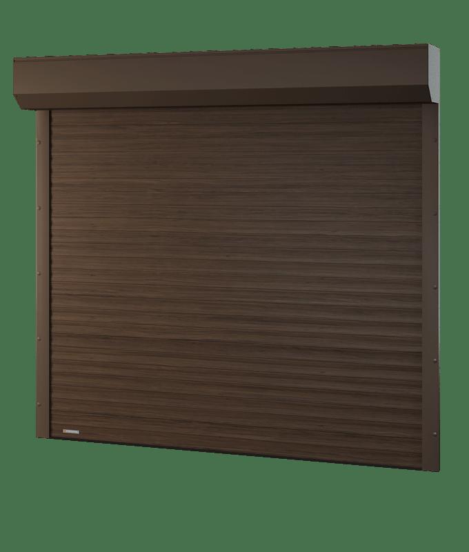 Porte de garage enroulable avec coffre