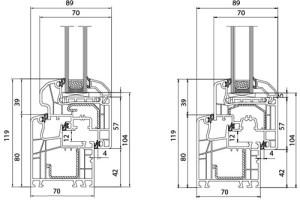 Fenêtre PVC Alusplast IDEAL 5000 - Coupe