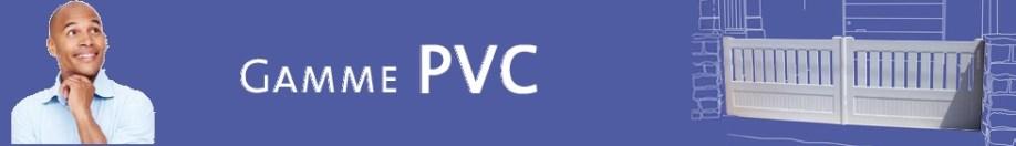 Portail sur mesure en PVC
